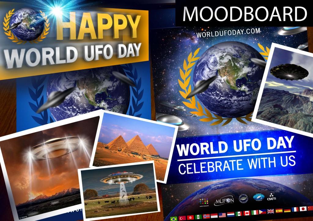 World UFO Day Poster Moodboard